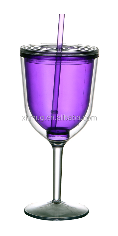 New design AS Wine cup with straw