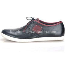 leather casual men shoes