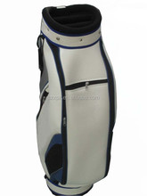 China manufacturer beautiful leather custom golf bag