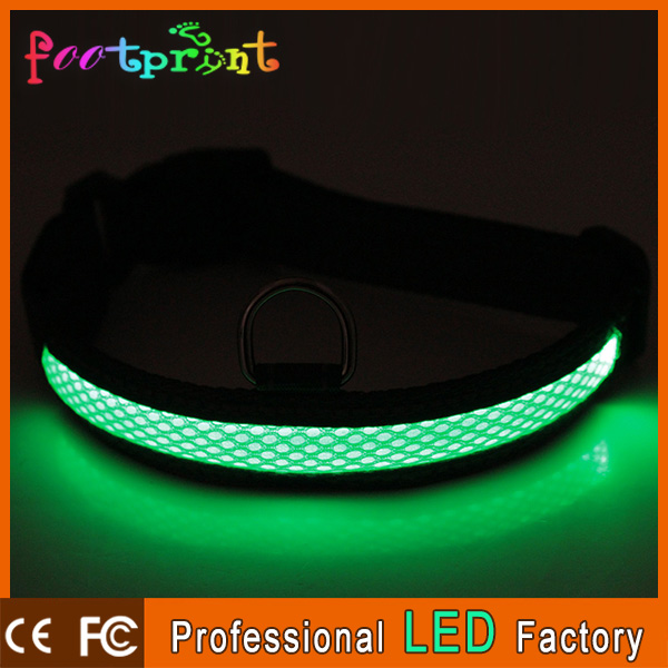 custom stretchable led dog collar chain