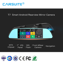 "7"" inch touch display screen intelligent car DVR Rearview mirror camera car dvr"
