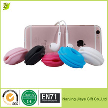 Cute Candy Color Generic Soft Silicone Earphone Cable Tie Cord Organizer Box