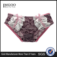 MGOO New Arrival Intimate Lingerie Underwear Imported Lace Bow Print Brief Panties For Women MBB033