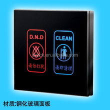 hotel electronic doorplate touch panel electrical doorbell doorplate with DND and Clean