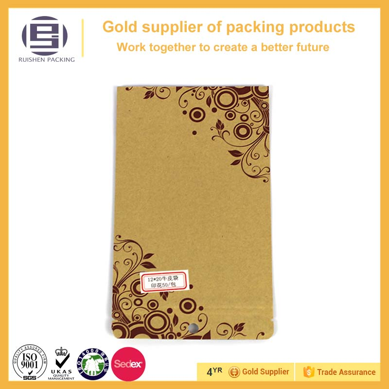 Customized aluminum foil kraft paper coffee bag with design,aluminum die cut composite bags