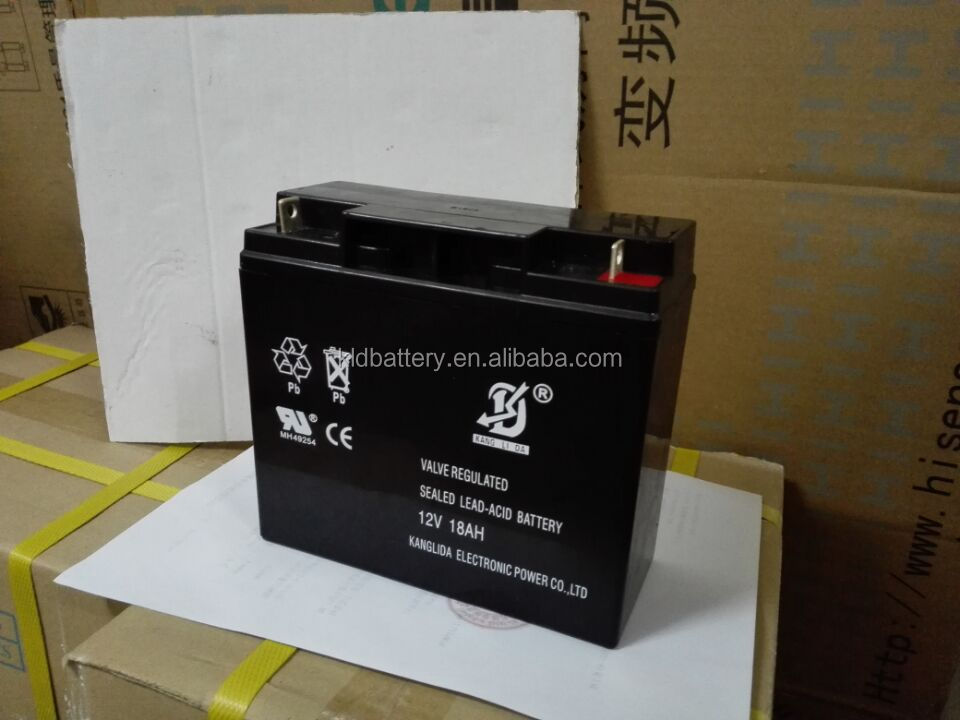 12v 18ah sealed lead acid battery for elevator talking inside