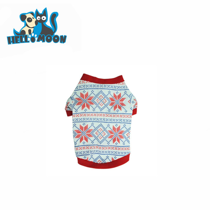 Luxury Pets Christmas Snow Patterns Dog Clothes Drop Ship