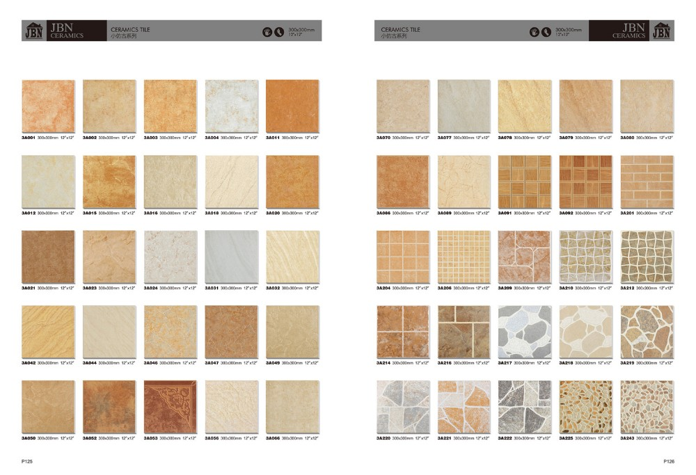 Types of tile floor