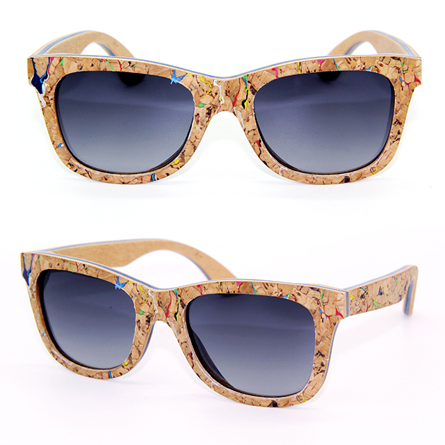 Cheap wholesale in china custom polarized dropshipping wooden cork sunglasses DLW-RM002