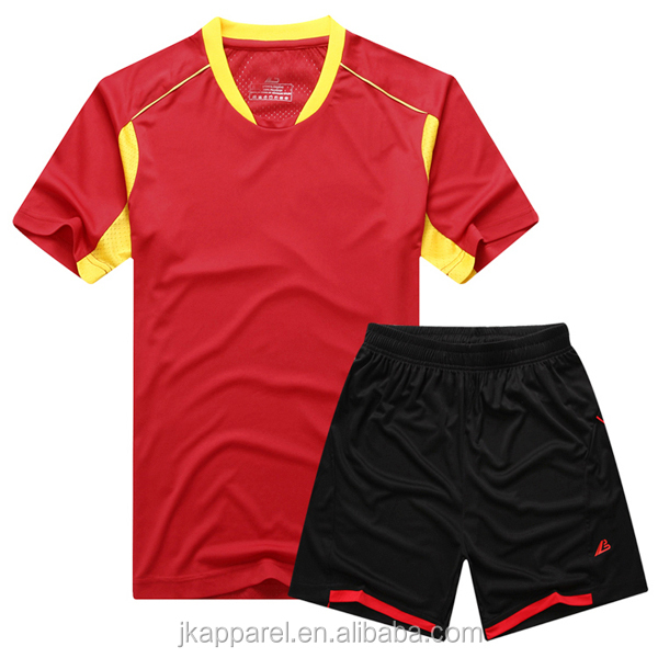 newest plain sports teamwear customized soccer jersey 100% polyester