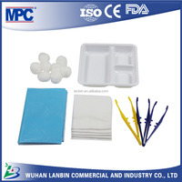 CE ISO FDA Approved OEM Wound Dressing Kit with Surgical Disposable Sterile Tweezer Set