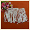 Fancy white cut end polyester fringe trim custom wholesale fringe tassel