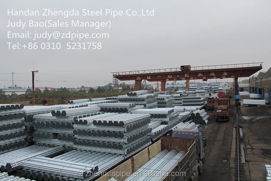 China Top Quality Gi pipe q235 green house strcture round steel tubes
