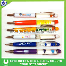 Promotional 3D Logo Liquid Floating Pen