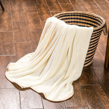 High quality, milk blanket flannel solid online blanket-white