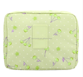 Portable Travel Cosmetic Makeup Bag Polyester Fiber Printing Toiletry Case Wash Organizer Storage Bag Pink/Purple/Green