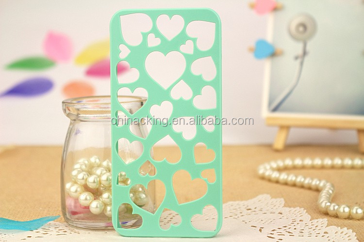 Cute Candy Color Loving Heart Hard Phone Case Cover For iPhone 4 4S