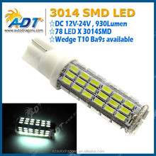 Hot products 12V-24V T10 3014SMD led car light led parking light