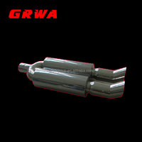Universal Car Stainless Steel Exhaust Muffler with Dual Tips