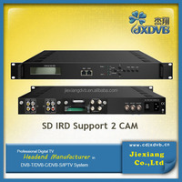 ird satellite receiver 2 CVBS dvb-s2 to ip ird