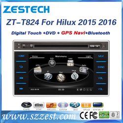 fit for toyota hilux 2015 2016 car audio player with dvd gps car multimedia