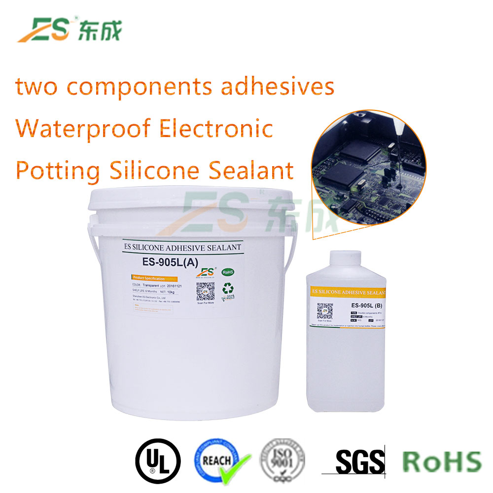 High quality double components adhesives two component potting silicone glue/gel for LED,power waterproof ES905L