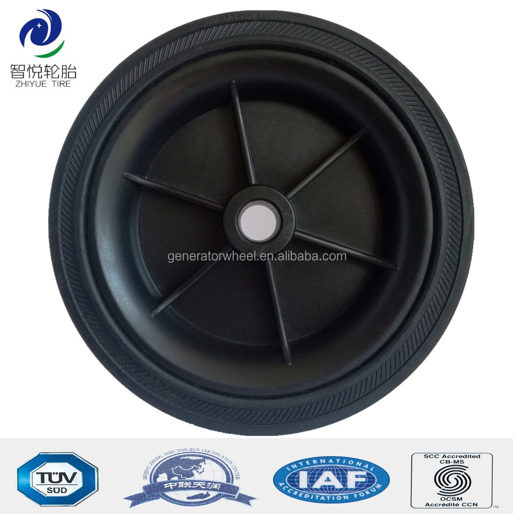 5 inch small solid rubber wheels for shopping cart, trolley, garden cart