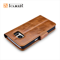 ICARER Genuine Leather Case for Samsung Galaxy S7 Smart Phone accessories