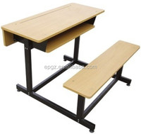 Double Desk and Bench / Classroom Student Desk Furniture