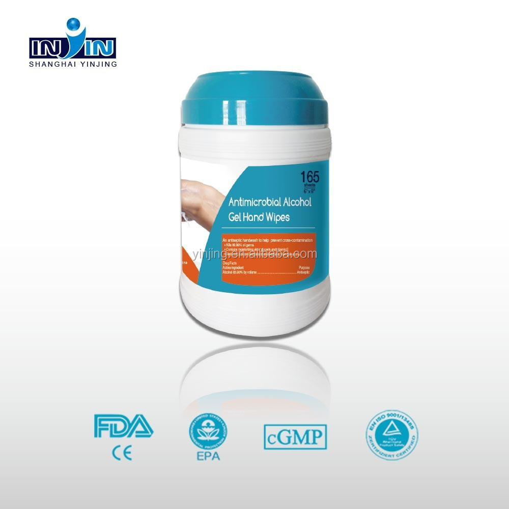 Antimicrobial hand tissue, hospital cleaning wipes