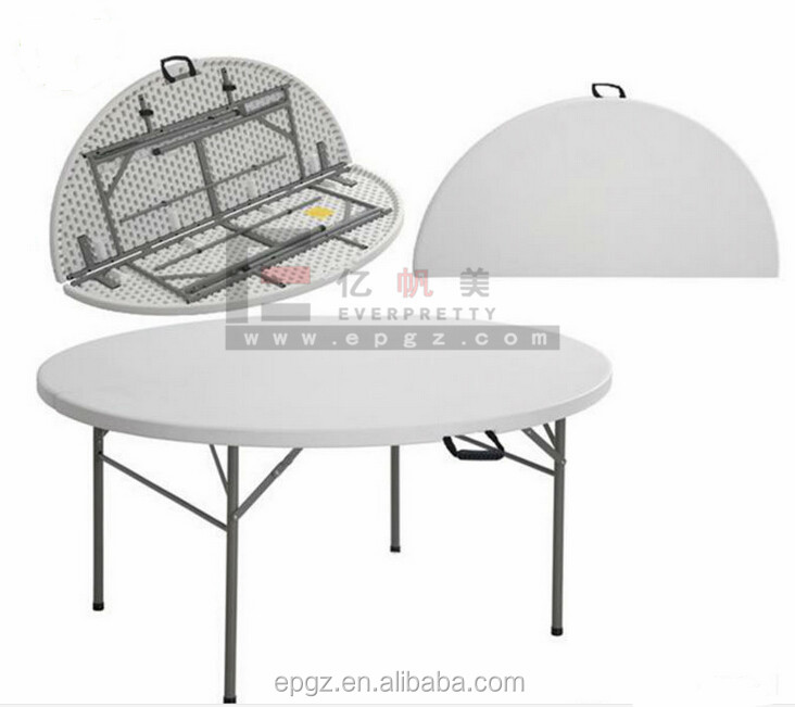 China Cheap Folding White Plastic Outdoor Round Dining Table
