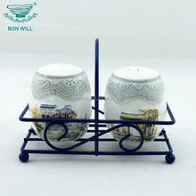 Factory directly sale ceramic salt and pepper shaker wedding favors for decoration