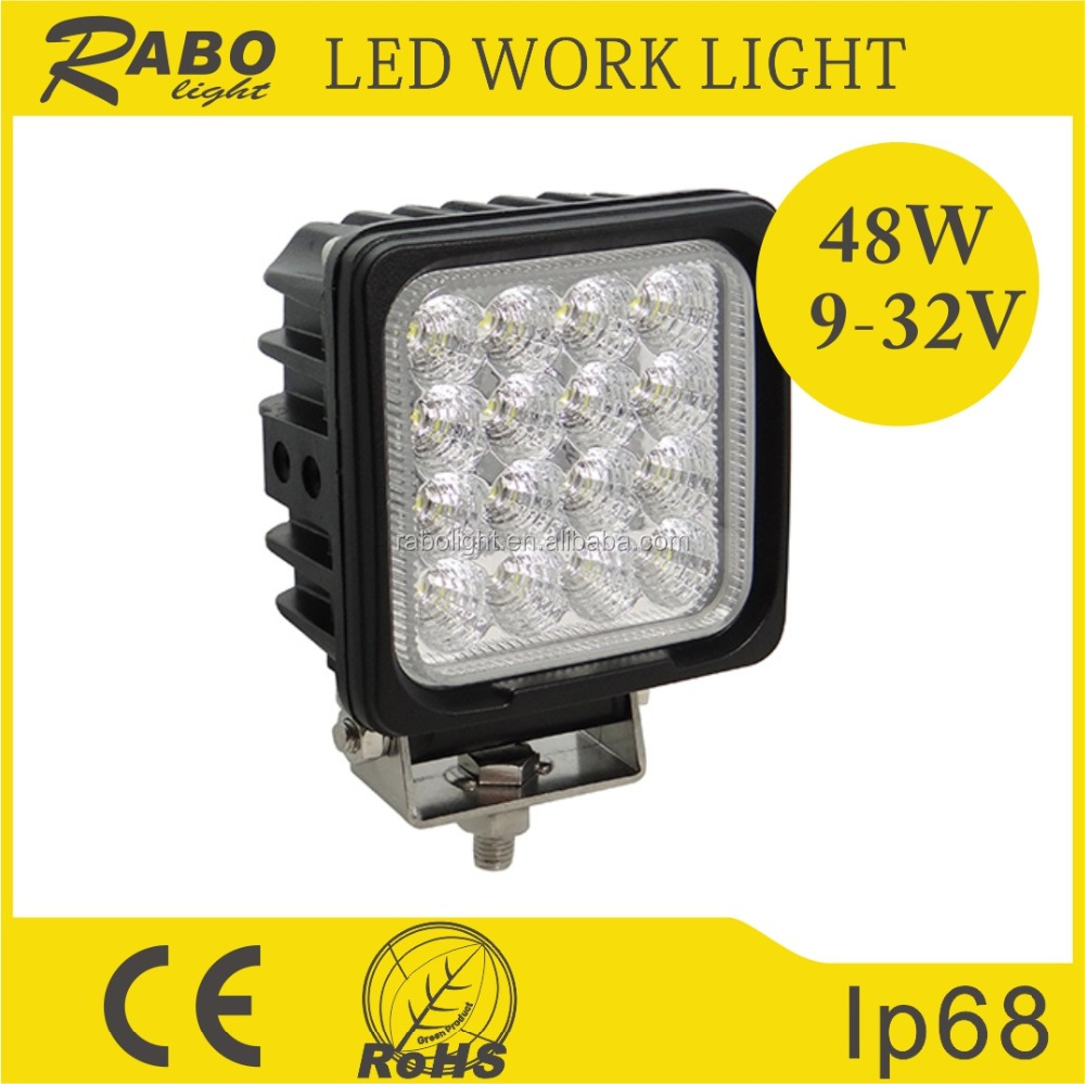 Guangzhou high power 48w led work light for Off-road vehicles, Trucks, Fire Engines, Forklifts, Mining, Trains, Tanks