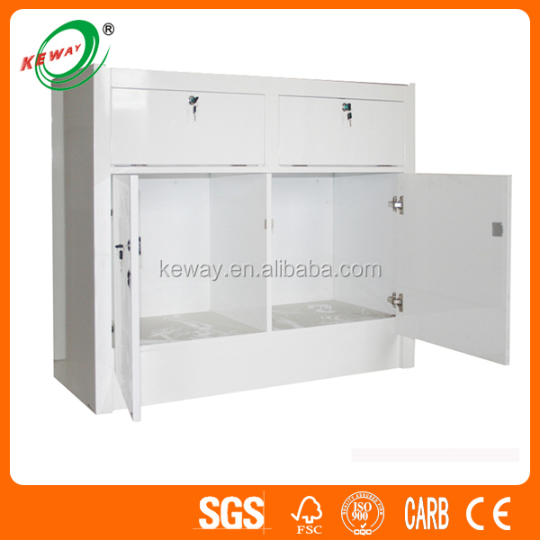 High-end White Painted Wood Storage Cabinet