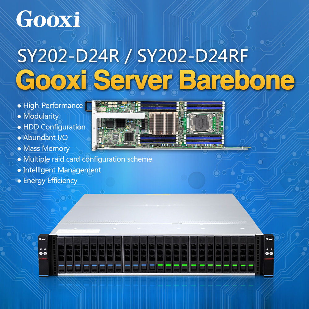 Gooxi E5 2U high density dual processors 10 gigabite ethernet port blade server