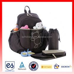 Trendy Backpack Nappy Bag for Mom 4 Pieces Set Diaper Bags(ESDB-0086)