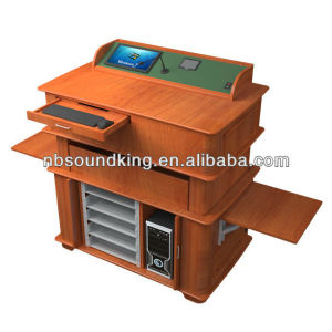 Multi-function wooden multimedia intelligent lectern PT06