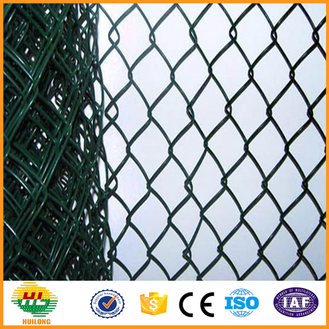 PVC coated or galvanized Chain Link Fence made in China(big factory)