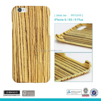 2016 Newest Design Phone Case Wood for iPhone, Zebra Wood Phone Case, Ultra Slim for iPhone 6 Blank Phone Case Wood