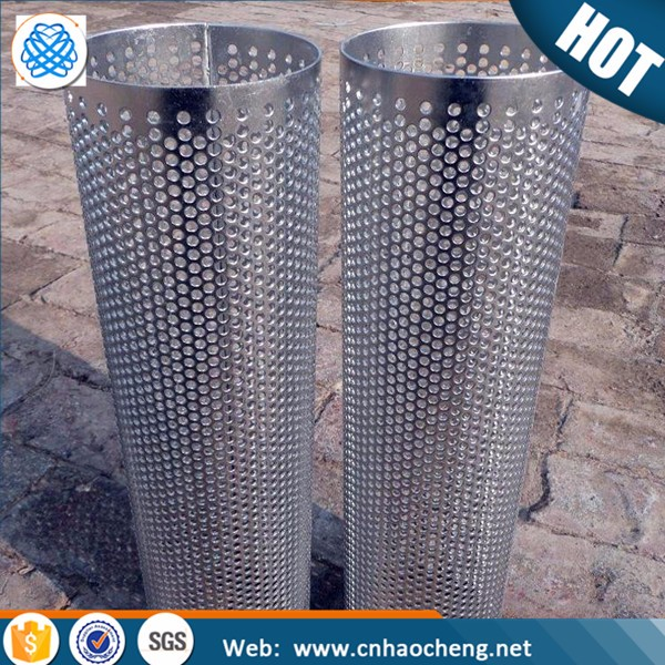 Ultra fine Filters made with perforated metal 304 sheet round square hole stainless steel mesh filter Tube