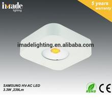 2017 modern design driverless CE VDE GS 2w square LED cabinet light IP20 IP44