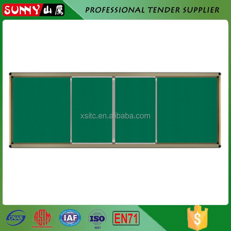Education slidable combination green chalk writing board for school