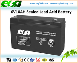 6V10AH Electric Toys Long Life Rechargeable AGM Storage Battery