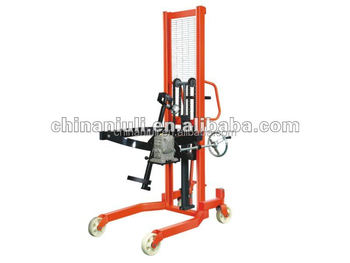 Tilting barrel fork lift