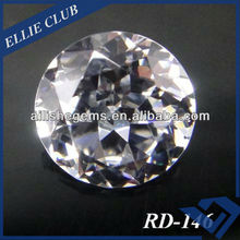 high quality prefect cut synthetic CZ white stone