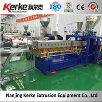 KTE-75 Water Ring Cutting Plastic Pellets Making Machine For Compound