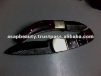 stagged handle folding Knife