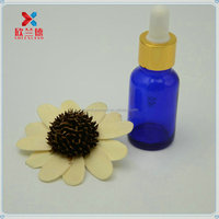 5ml,10ml,15ml,20ml,30ml,50ml refillable blue essential oil bottle with dropper glass pipette, free sample