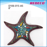 Decorative indoor mounted resin starfish for sale