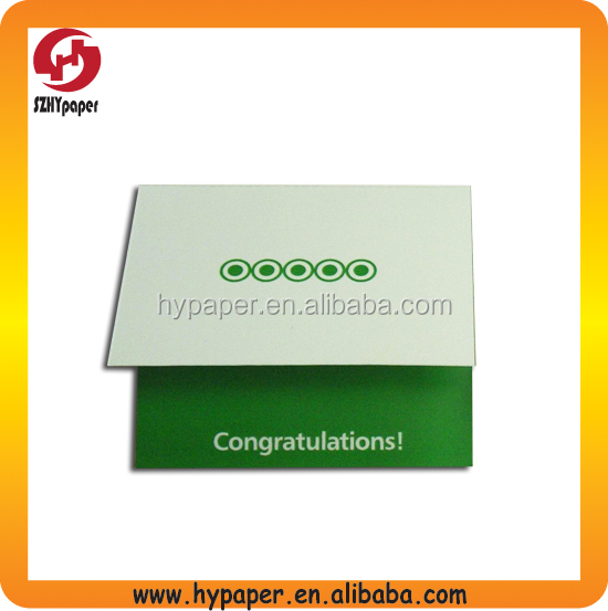 coloring printing folded package card for congratulation
